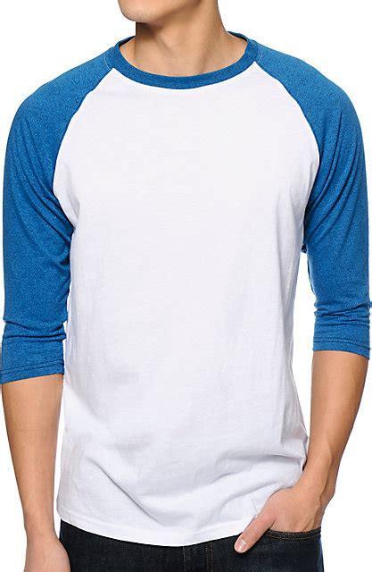 Kaos Raglan3 4 3 Second putih biru raglan indo kaos