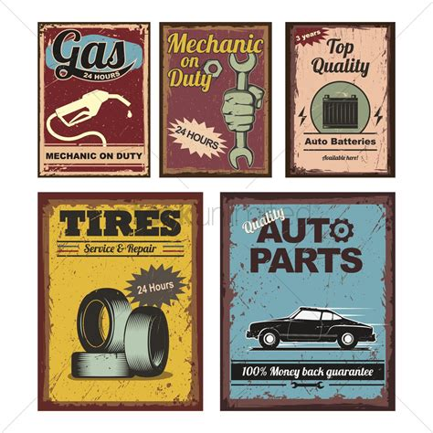 Auto Poster by Vintage Car Posters Vector Image 1515550 Stockunlimited