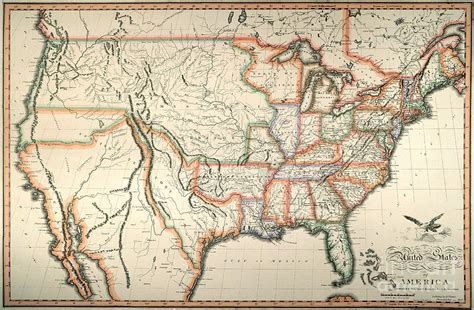 map of united states in 1820 map united states 1820 by granger