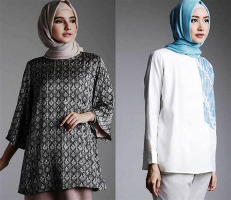 Baju Kantor Untuk Ibu 24 model baju batik pesta wanita muslim modern elegantria