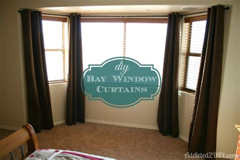 how do you put curtains on a bay window diy bay window curtains addicted 2 diy