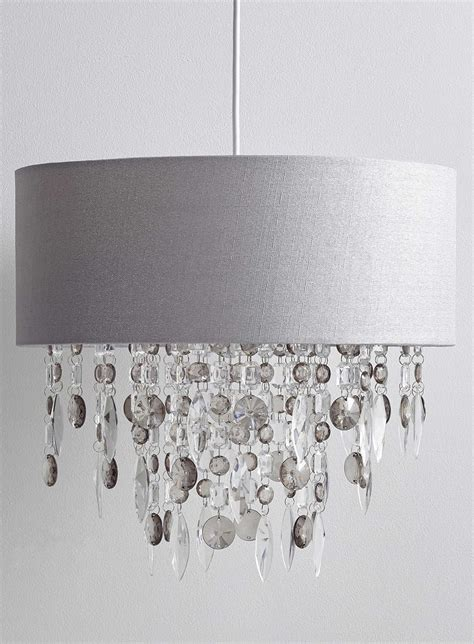 drum shade pendant chandelier modern easy fit drum shade grey fabric ceiling pendant