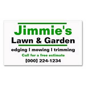 lawn care business ideas lawn care business card