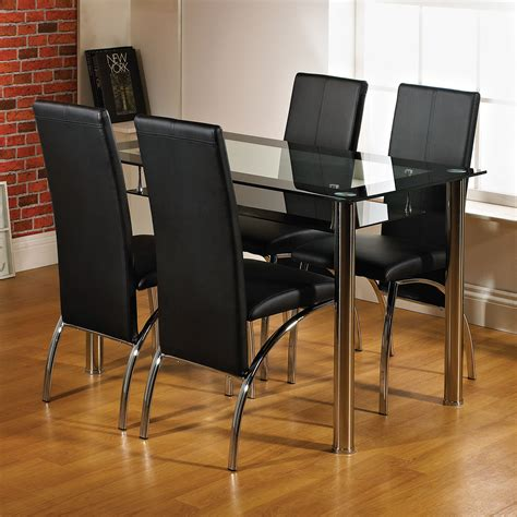 Dining Tables Black Glass Kingston 120cm Black Glass Dining Table Next Day Delivery Kingston 120cm Black Glass Dining