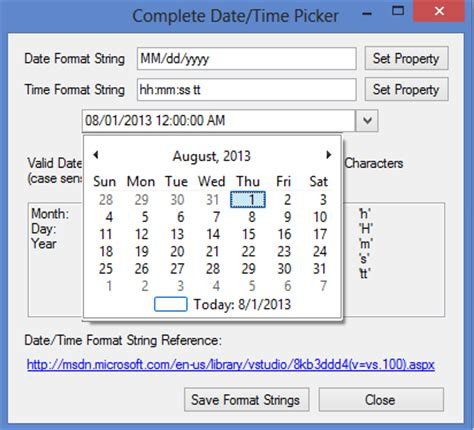 format date xslt 2 0 exle complete date time picker control codeproject