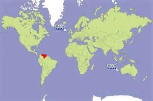 Venezuela On World Map by Venezuela Global Map