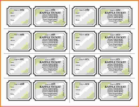 free printable raffle ticket template raffle ticket