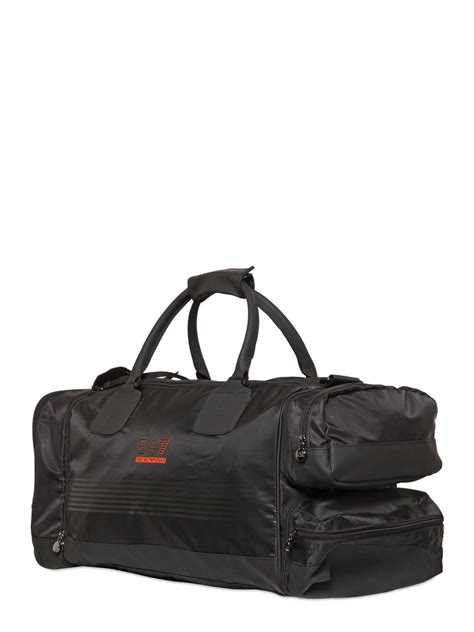 Asos Packaway Barrel Bag In Black lyst emporio armani canvas smart duffle bag in