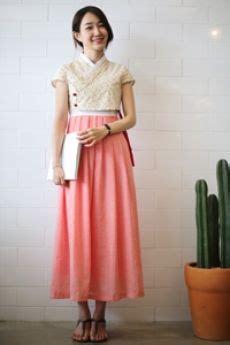 Pink Casual Hanbok modern casual hanbok dress mi in do one pink 리슬