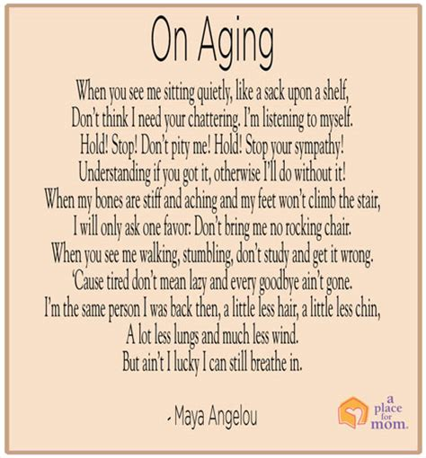 poem on aging by angelou