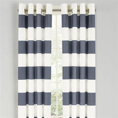 stripe curtains nautica nautica cabana stripe drape curtain panel