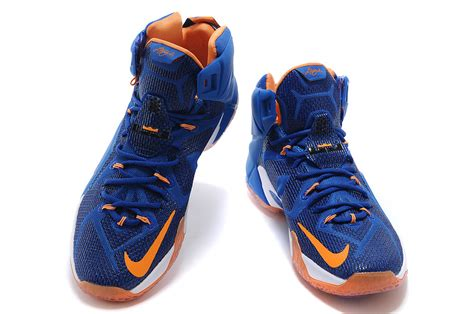 orange and white basketball shoes 2014 nike lebron 12 blue white orange basketball