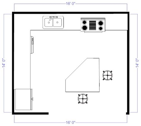Kitchen Floor Plans With Island by Island Kitchen Floor Plan For The Home Pinterest