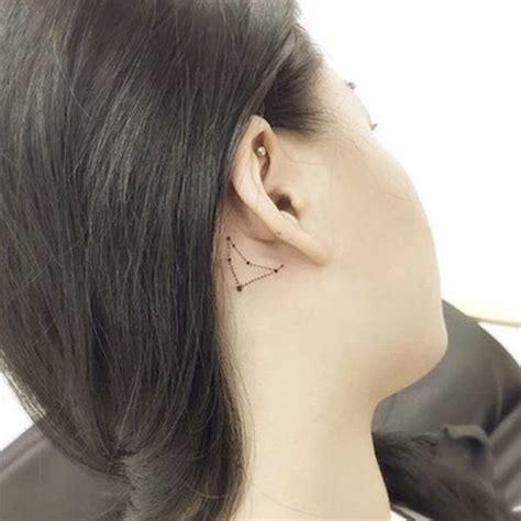 capricorn tattoo behind ear capricornus constellation tattoo behind the ear