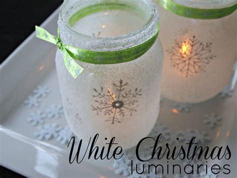 christmas crafts wirh mason jars diy jar crafts white snowflake luminaries