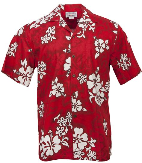 aloha shirt white hibiscus mens hawaiian aloha shirt in mens