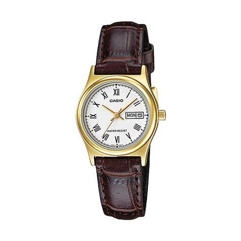 Casio Standard Jam Tangan Wanita Stainless Steel Ltp 1241d 7a2 jual casio standard ltp v006gl 7b jam tangan wanita coklat putih harga kualitas