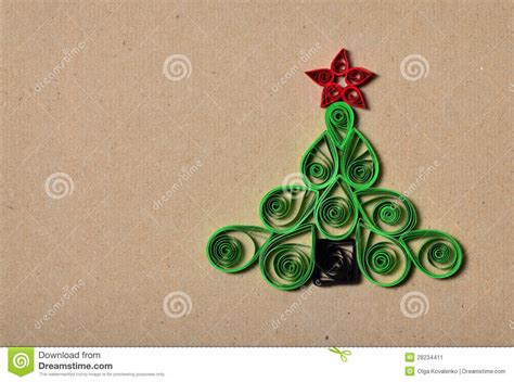 Handmade Paper Tree - handmade tree cut out from paper stock image