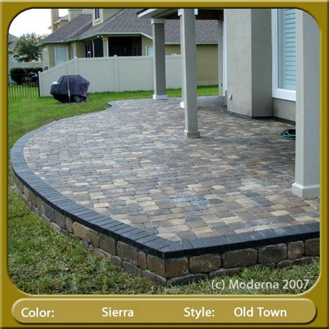 raised patio pavers raised paver patio orange park from moderna pavers