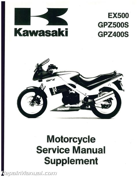Kawasaki Motorcycle Service by 1988 Kawasaki Ex500 A1 Gpz Motorcycle Service Manual