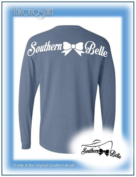 southern comfort apparel comfort color southern belle long sleeve t shirts by