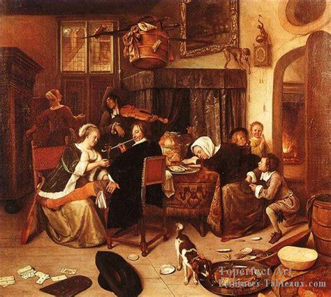Détacher Peinture Acrylique by 7 Disso Hollandais Genre Peintre Jan Steen Peintures