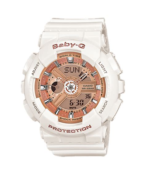 Casio Baby G Ba 110 Glossy Pink rel 243 gio casio baby g ba 110 7a1 branco gold