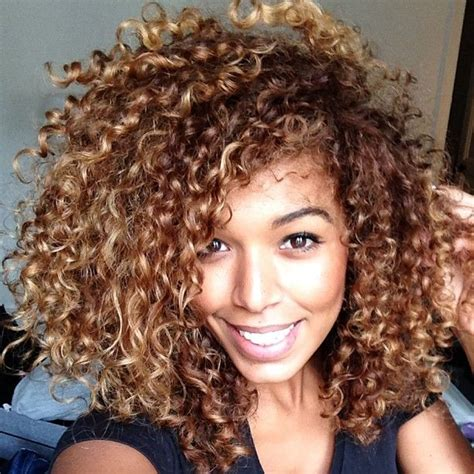 tri color hair for medium length curly hair naturally curly colored ends volume short medium