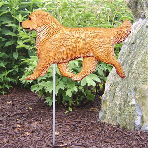golden retriever garden golden retriever garden stake