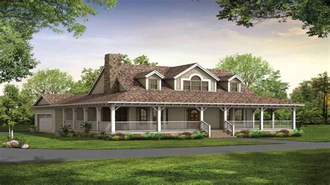 Country House With Wrap Around Porch Floor Plans Country House Plans Wrap Around Porch