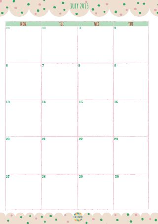 printable calendar a5 4 best images of free 2015 a5 monthly calendar printable