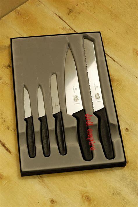 1 Set Pisau Dapur set pisau dapur 5 victorinox