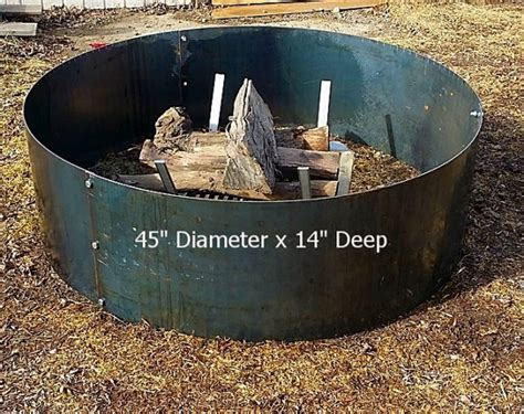 large cfire ring pit liner 45 by garageshopwelding