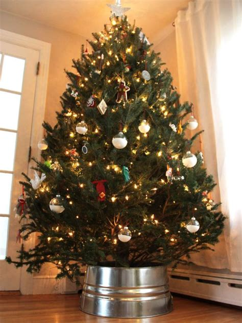 diy galvanized christmas tree collar hack diy network