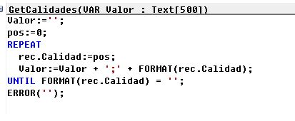iterate possible values of a option field in c/al