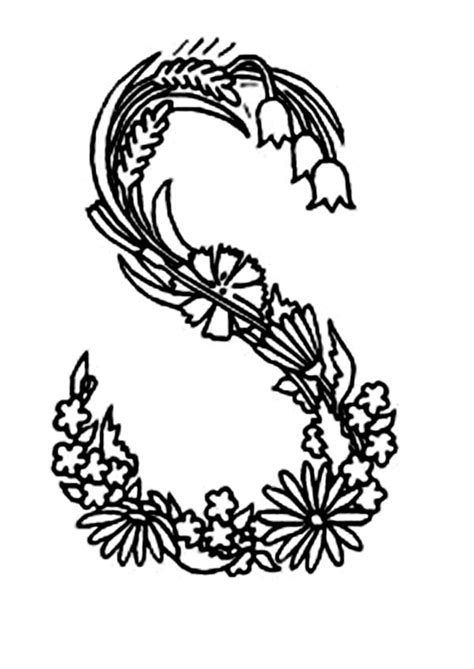 alphabet coloring pages with flowers free coloring pages of pink letter e