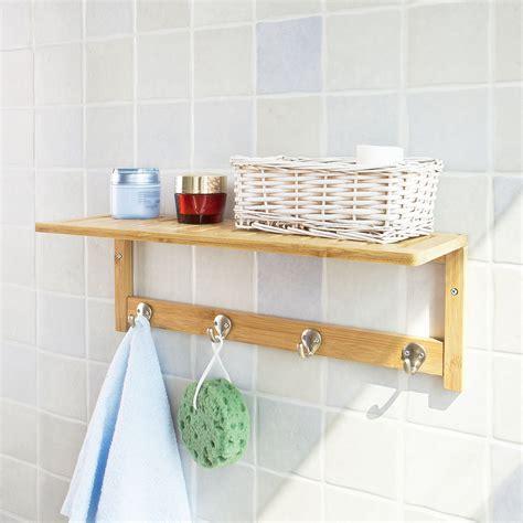 badezimmer ablage sobuy badezimmer und k 252 chen wandregal mit hakenleiste und