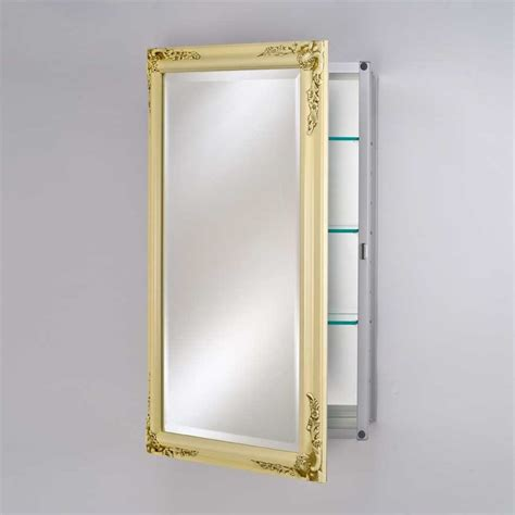 Afina Medicine Cabinets by Afina Basix Plus 20 Quot Mirrored Medicine Cabinet Antique