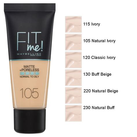 Maybelline Fit Me fit me matte and poreless foundation 30ml