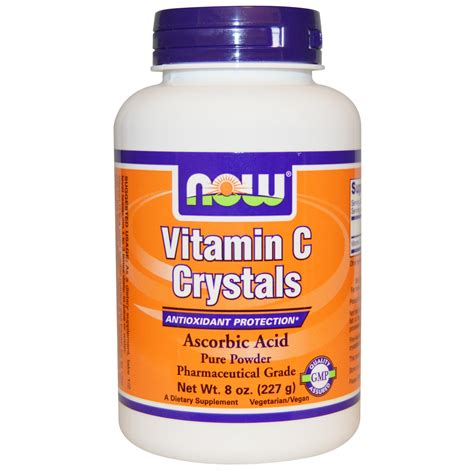 supplement j for niw now foods vitamin c crystals 8 oz 227 g iherb