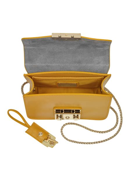 Furla Metropolis Slingbags 2321 furla metropolis girasole mini leather cross bag in yellow lyst