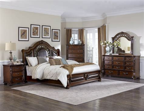 4 homelegance augustine court traditional bedroom set