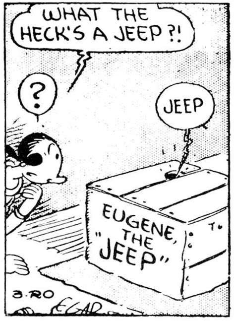 Eugene The Jeep Eugene The Jeep Has Arrived Papers Comic Books