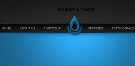 design portfolio header sleek blue portfolio website header psd welovesolo