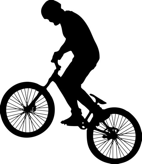 Clip Sepeda Bmx Black clipart on bike silhouette