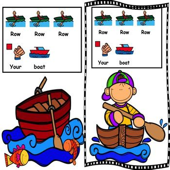 row your boat kindergarten row row row your boat interactive nursery rhyme circle