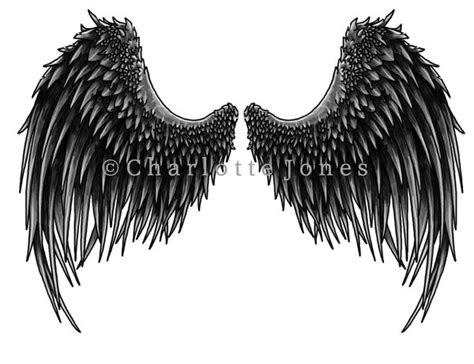 dark angel wings tattoo designs wings images designs