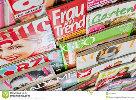 How Many Different On The Shelf Are There by Colorful Magazines In A Shelf Editorial Photo Image