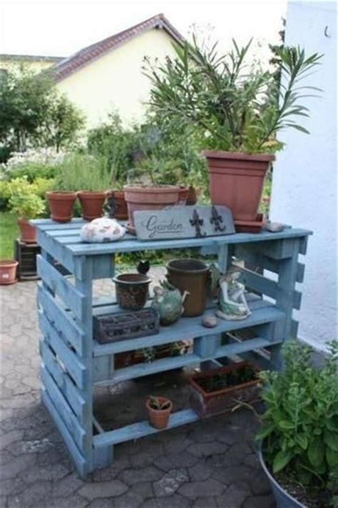 pallet garden work bench reclaimed pallet work bench for garden pallets designs