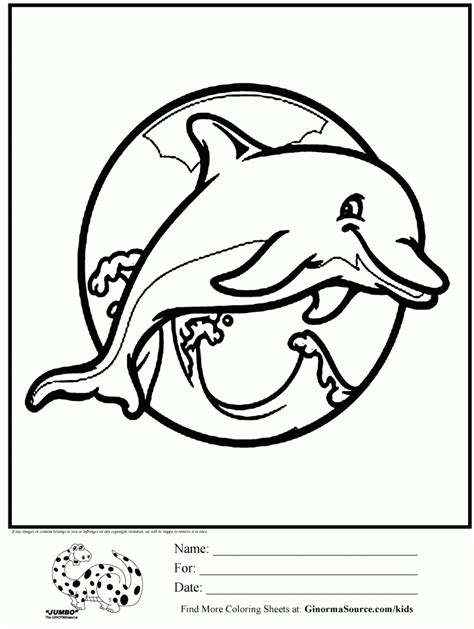 animal coloring pages dolphin barney great adventure coloring sheets pages sketch